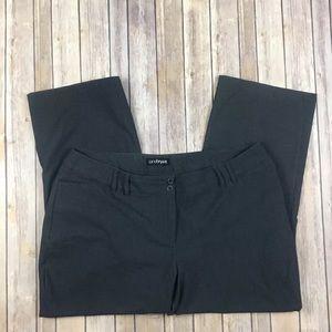 Lane Bryant Petite career pants solid gray wide